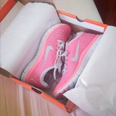 Neon Pink & Coral Nikes