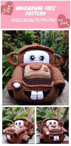 We continue to provide you with the latest recipes related to Amigurumi. Amigurumi classic car free crochet pattern is waiting for you. Crochet Hippo, Crochet Car, Crochet Dolls, Animal Knitting Patterns, Crochet Amigurumi Free Patterns, Free Crochet, Christmas Crochet Patterns, Stuffed Toys Patterns, Amigurumi Doll