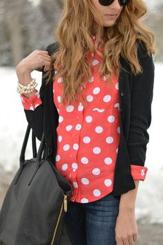Love the dots with the bold colors, stylish yet comfortable