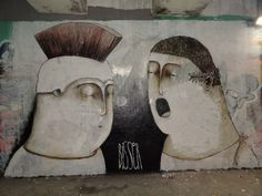 bisser-we-were-all-romans-once-street-art-belgium-sab  #illustration #art #streetart