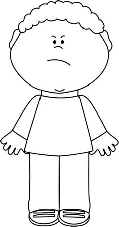 Black and White Angry Boy lots of great free clipart