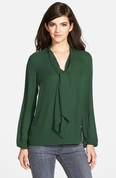 Free shipping and returns on Bailey 44 Long Sleeve Tie Neck Blouse (Nordstrom Exclusive) at Nordstrom.com. A featherweight crepe blouse exudes ultra-feminine, vintage style with a flouncy tonal necktie and billowy blouson sleeves.