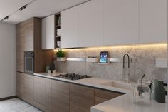 Contemporary style kitchen designs are among the methods to go. Kitchen Room Design, Kitchen Cabinet Design, Modern Kitchen Design, Kitchen Layout, Home Decor Kitchen, Kitchen Living, Interior Design Kitchen, Home Kitchens, Contemporary Kitchen Cabinets