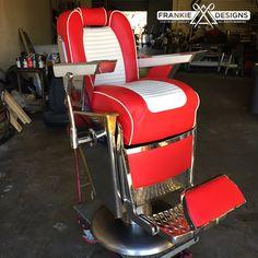 custom Belmont Barber Chair by Frankie-Designs. Boy Toys, Toys For Boys, Barber Chair Vintage, Barber Shop Interior, Barbershop Ideas, Safety Razor, 4 Life, Lighting Design, Diy Furniture
