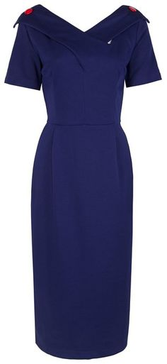 6c55e88f Lindy Bop 'Fran' Vintage Mad Men Secretary Style Wiggle Dress: Amazon.co