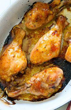 Sticky Baked Chicken with Apricot, Sage and Lemon Zest | Skinnytaste