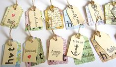 Map Gift Tags, Thank You Tags, Map Tags, Map Favor Tags, Vintage Map Wedding, Destination Wedding, Travel Theme, Welcome to the World Shower on Etsy, $24.00