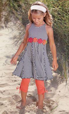 From CWDkids: Flowers & Stripe Dress
