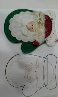 de natal com moldes Artesanato de natal com moldes - Como FazerArtesanato de natal com moldes - Como Fazer Felt Christmas Decorations, Felt Christmas Ornaments, Christmas Art, Christmas Projects, Handmade Christmas, Christmas Holidays, Felt Crafts, Holiday Crafts, Diy And Crafts