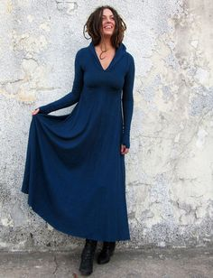 Gaia Conceptions - Howrah Hooded Long Dress, $165.00 (http://www.gaiaconceptions.com/howrah-hooded-long-dress/)
