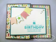 Stampin' Up See Ya Later Sale-A-Bration Birthday Joy Fold Card by Andi Potler www.absolutekreations.com