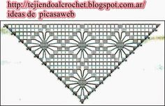 CROCHET - GANCHILLO - PATRONES - GRAFICOS: CHALINA TEJIDA A GANCHILLO