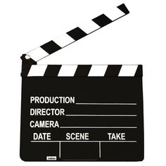 Reel Hollywood Clapboard | Wally's Party Factory #Hollywood #Clapboard