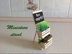 tutorial: miniature plant stand