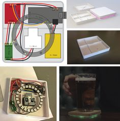 DIY Smart coaster - All Scale Design, Smart Kitchen, Interactive Design, Drink Coasters, Diy Projects, Traditional, Cool Stuff, Milk, Ideas