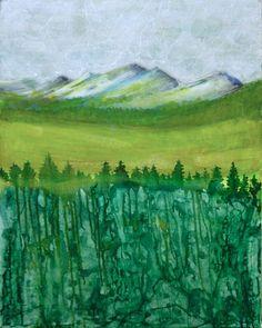 Semi abstract landscape painting - Sandrine Pellisier