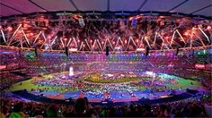 Fireworks light up the Olympic Stadium at the conclusion of the London 2012 Paralympic Games Closing Ceremony.