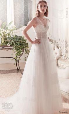 blumarine sposa 2019 bridal sleeveless sheer strap sweetheart neckline  lightly embellished bodice romantic a line wedding 1dae4efa091