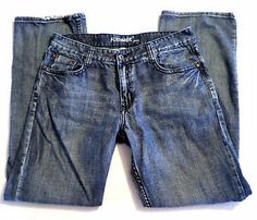 Mens Size 34x32 FLYPAPER Jeans, Classic Straight Leg, Vintage Wash
