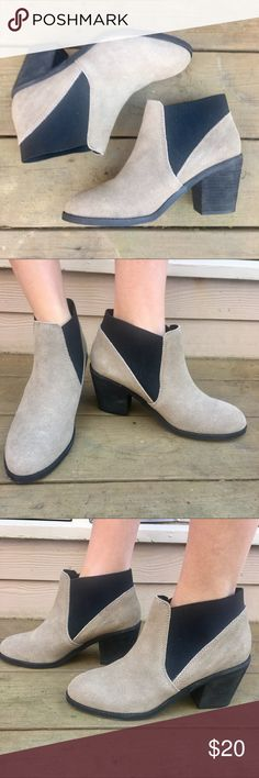 Urban Outfitters Heeled Boots Selling these suede heeled booties from Urban Outfitters!  👢Only worn twice.  A little scuffed on the heels which is reflected in the price. 1 1/2 inch heel.  Size 10. Urban Outfitters Shoes Heeled Boots