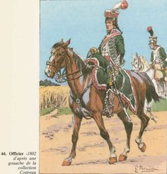 French; 7th Chasseurs a Cheval, Officer, 1802 by Pierre Bénigni