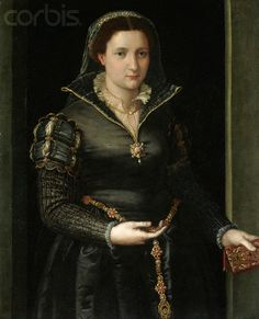 Portrait of Isabella de'Medici. By Bronzino.