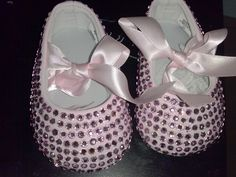 baby bling shoes by kendrascreativeideas on Etsy, $25.00