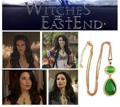 Witches of East End Inspired Wendy's Green Gem Stone Pendant Necklace #WitchesofEastEnd #NecklacesPendants