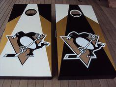 Pittsburgh Penguins cornhole boards