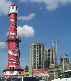 T^T Trinidad and Tobago Lighthouse and Twin Towers Port Of Spain Trinidad