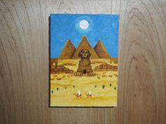 エジプトに行ってみたいな、というイラストレーション。