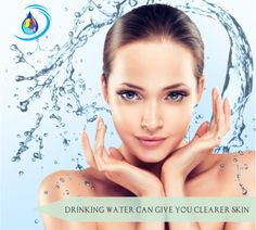 Drinking Water can give you clearer skin. Science says that water does flush out the toxins of face and can reduce the risk of pimples. #aquansh #shivanshaqua