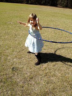 Penny hoops it up in her hometown of Alachua, Florida. Photo by Stephanie Davis. A Hooping.org Photo of the Day.