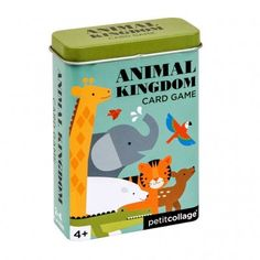 Help the animals get back together! Collect as many sets of animals that live in the same location to win! Our card games come in a nifty ready-to-gift tin box perfect for travel. Animal Kingdom, Nativity Advent Calendar, Animal Puzzle, Wooden Rabbit, Card Games For Kids, Monster Cards, Christmas Train, Tin Gifts, Jewelry Kits