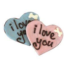 Bone Appétit Bakery - I Love You Hearts {4 pack}, $12.74 (http://www.gottreats.com/gourmet-treats/decorated/i-love-you-hearts-4-pack/)