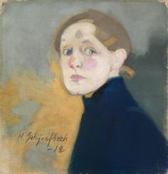 Finnish National Gallery - Art Collections - Helene Schjerfbeck Self-Portrait, 1912 Helene Schjerfbeck, Modern Portraits, Self Portraits, Royal Academy Of Arts, Scandinavian Art, Old Master, Beauty Art, Figurative Art, Art Museum