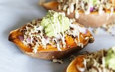 Mushroom Quinoa Stuffed Sweet Potatoes With Smashed Avocado [Vegan, Gluten-Free] | One Green Planet