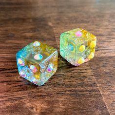 Tabletop Games, Resin Crafts, Custom Engraving, Rustic Style, Dice, Royals, Swarovski Crystals, Gaming, Fairy