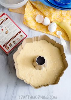 Banana Bundt Cake Recipe - Crafty Morning Banana Bundt Cake, Bundt Cake Pan, Bundt Cakes, Cookie Recipes, Dessert Recipes, Desserts, Recipes Using Cake Mix, Cake Mix Ingredients, Cream Cheese Recipes