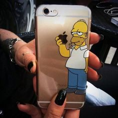 Homer Eating Apple iPhone Case