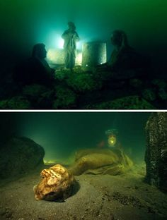 Cleopatra's Palace in Alexandria (Egypt) Lost for 1,600 years, the royal quarters of Cleopatra were discovered off the shores of Alexandria. A team of marine archaeologists, led by Frenchman, Franck Goddio, began excavating the ancient city in 1998. Historians believe the site was submerged by earthquakes and tidal waves, yet, astonishingly, several artifacts remained largely intact.
