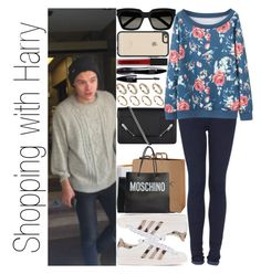 """""""Shopping with Harry"""" by narryismybae ❤ liked on Polyvore featuring Yves Saint Laurent, Topshop, adidas Originals, ALDO, Lancôme, Chanel, Moschino, Casetify and Smashbox"""