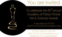 Invitación oscar http://www.melodijolola.com/diversion/red-carpet-drinking-game-2013