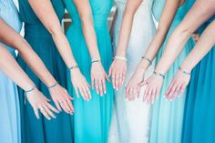 Mismatched Bridesmaid Dresses | Blue Bridesmaid Dresses | Bridesmaid Manicure | So This Is Love Blog