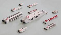 Lego Spaceship, Lego Robot, Lego Toys, Nave Lego, Lego Space Station, Lego Plane, Micro Lego, Starship Concept, Amazing Lego Creations