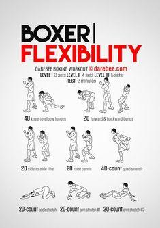 Full Body Boxer Flexibility Workout Concentration | #1stInHealth #Workout #BoxerFlexibility #Flexibility #FitnessWorkout