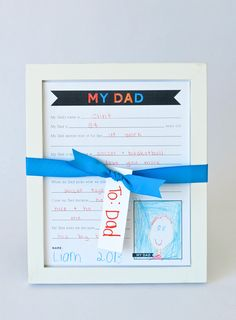 Fathers day fill in blank printable. Will be so cute when boys can write!