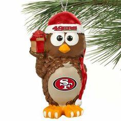 San Francisco 49ers Resin Owl Ornament
