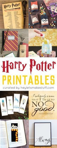 Wizard, witch, muggle, or mudblood, you're going to love all of these Harry Potter printables! From games to decor, to party and gift ideas, these Harry Potter printables will have you grabbing your wand in no time!