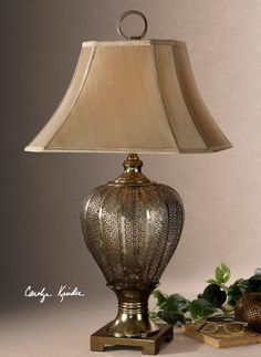 Lowest Price Online On All Uttermost Cupello Metal Table Lamp In Antiqued  Silver Champagne   26521